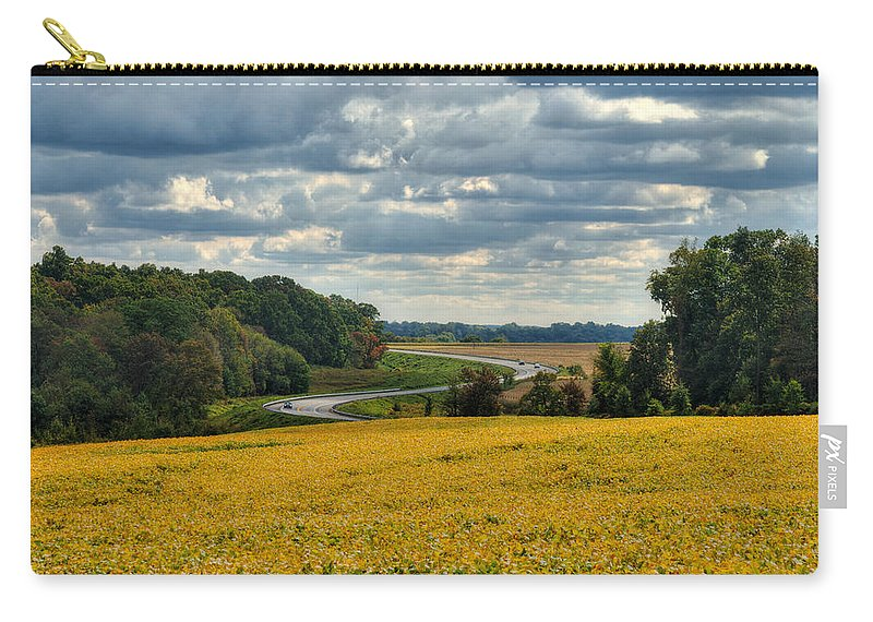 Hampstead Carry-all Pouch featuring the photograph Bypass The Country Fields by Mark Dodd