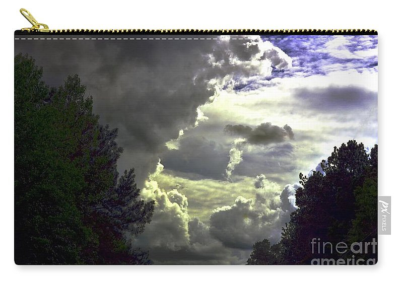 C Carry-all Pouch featuring the photograph C Is For Clouds by Maria Urso