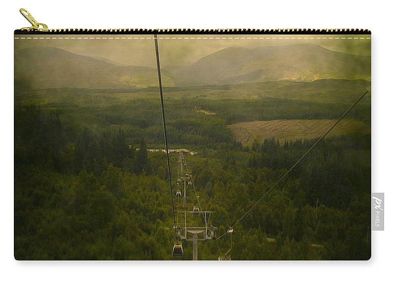 Abstract Carry-all Pouch featuring the photograph Cable Cars by Svetlana Sewell
