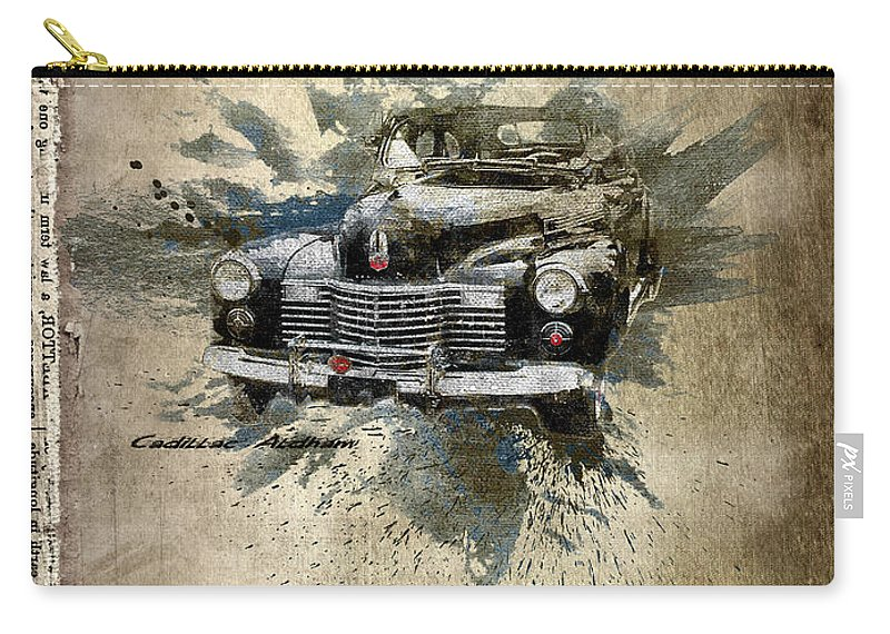 Active Carry-all Pouch featuring the digital art Cadillac Aldham by Svetlana Sewell