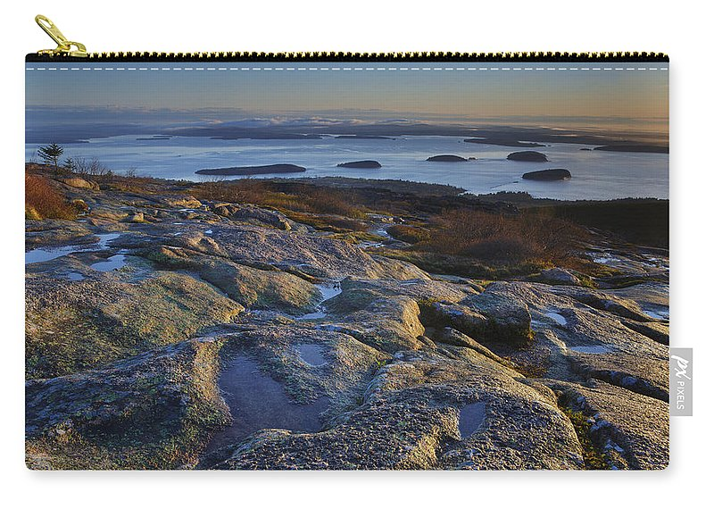 Maine Carry-all Pouch featuring the photograph Cadillac Mountain And Frenchman's Bay by Rick Berk