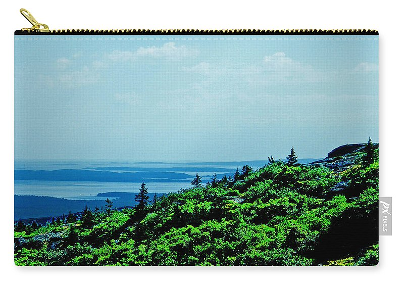 Mountain Carry-all Pouch featuring the digital art Cadillac Mt Mt Desert Island Me by Lizi Beard-Ward