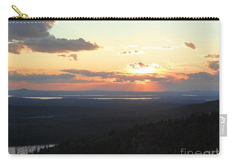Nature Carry-all Pouch featuring the photograph Cadillac Sunset by Meandering Photography