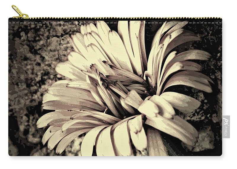 Earthy Carry-all Pouch featuring the photograph Calendula In Browns by Chris Berry