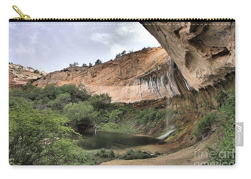 Upper Calf Creek Falls Carry-all Pouch featuring the photograph Calf Creek Demon by Adam Jewell