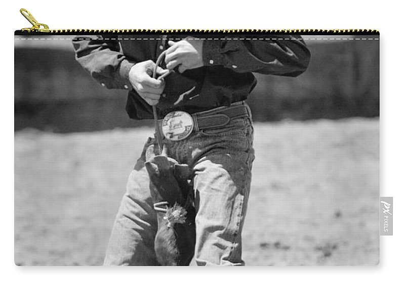 Rodeos Carry-all Pouch featuring the photograph Calf Roper by Michelle Wrighton