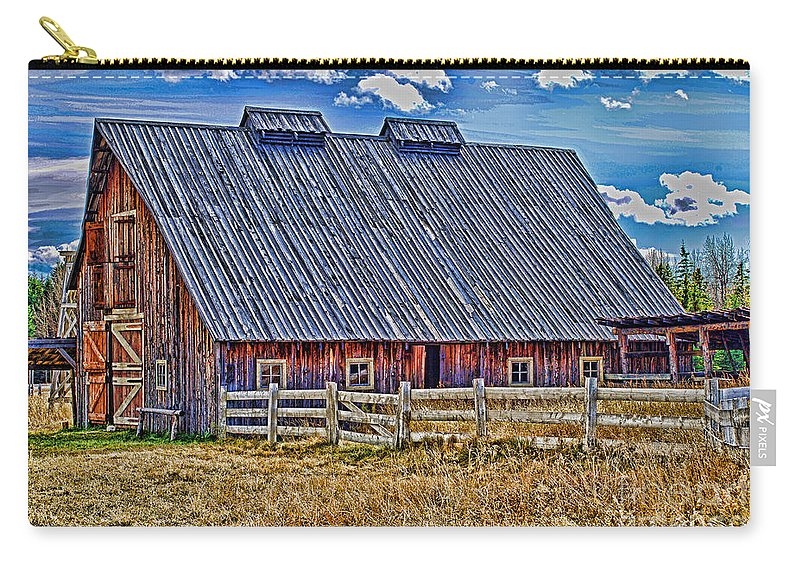 Barns Carry-all Pouch featuring the photograph Calgary Barn Hdr by Randy Harris