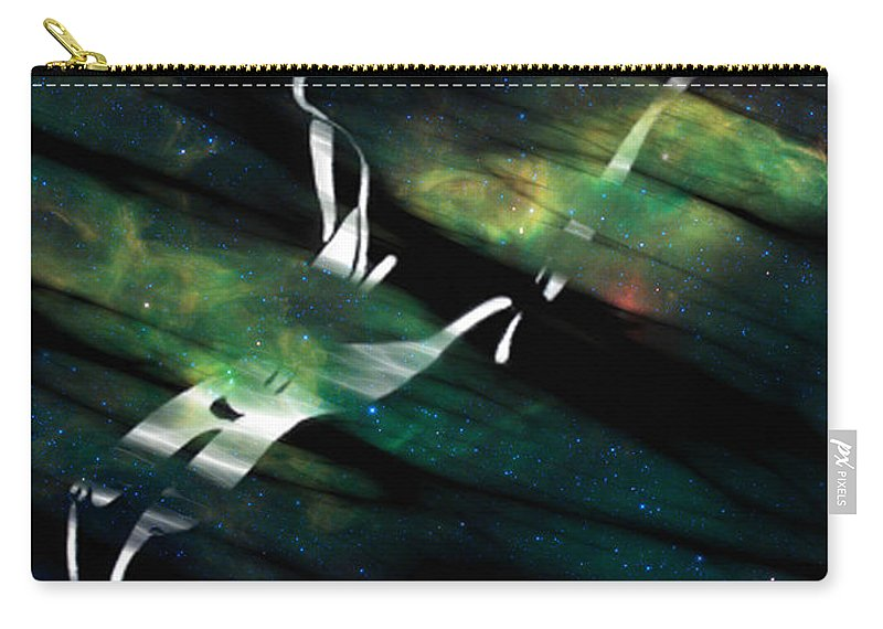 Nude Pastels Carry-all Pouch featuring the digital art Caliente Aurora by Mayhem Mediums