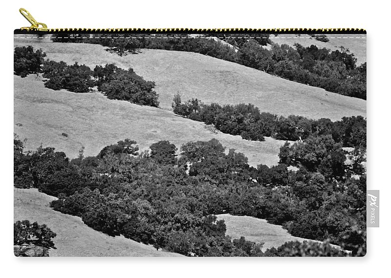 California Carry-all Pouch featuring the photograph California Hillside Oaks by Eric Tressler