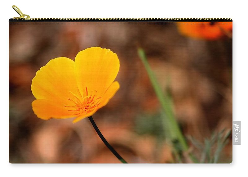 Beautiful Carry-all Pouch featuring the photograph California Poppy by Henrik Lehnerer