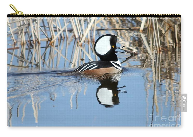 Hodded Carry-all Pouch featuring the photograph Call Of The Wild by Lori Tordsen