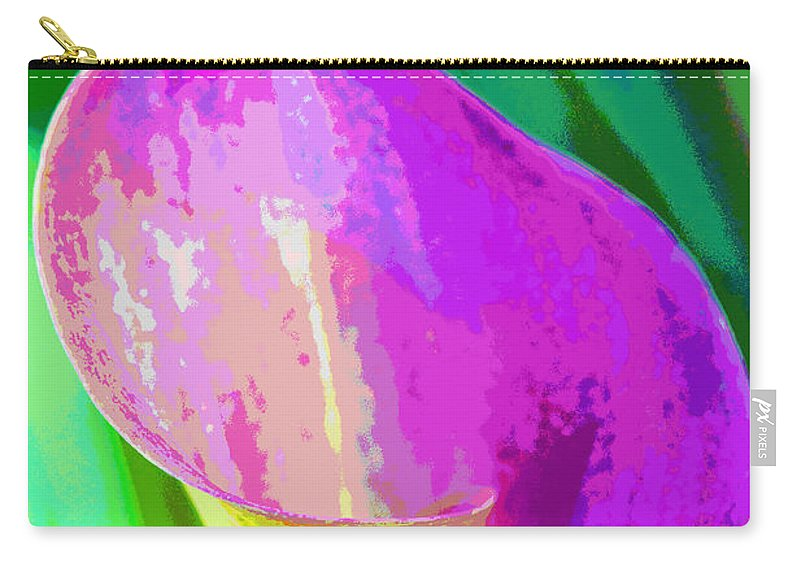 Cally Lily Closeup Carry-all Pouch featuring the photograph Calla Lily Art by Regina Geoghan