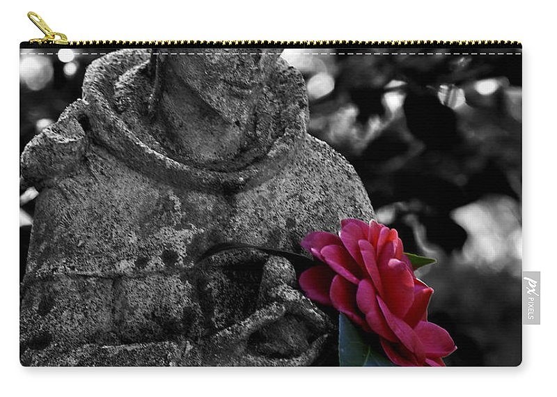 Camellia Carry-all Pouch featuring the photograph Camellia Five by Ken Frischkorn