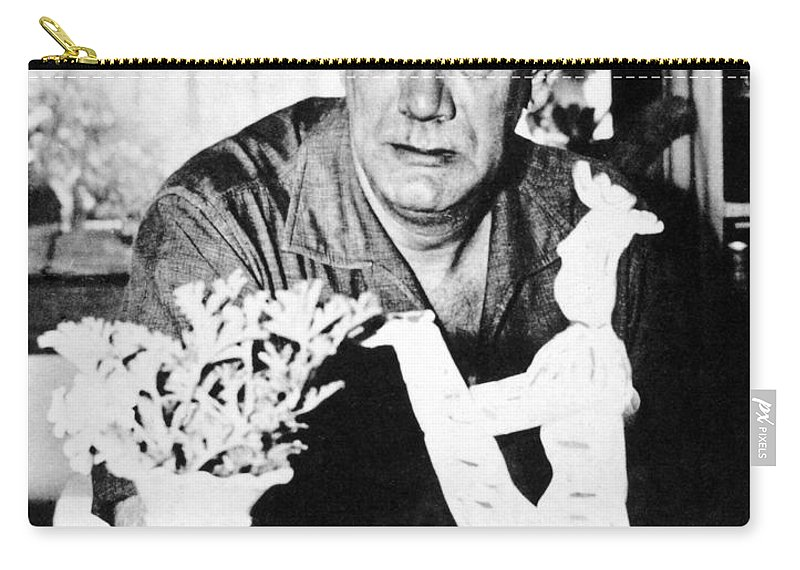 20th Century Carry-all Pouch featuring the photograph Camilo Cela (1916-2002) by Granger