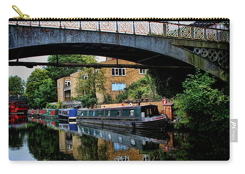 Canal Boat Carry-all Pouch featuring the photograph Canal Boats by Heather Applegate