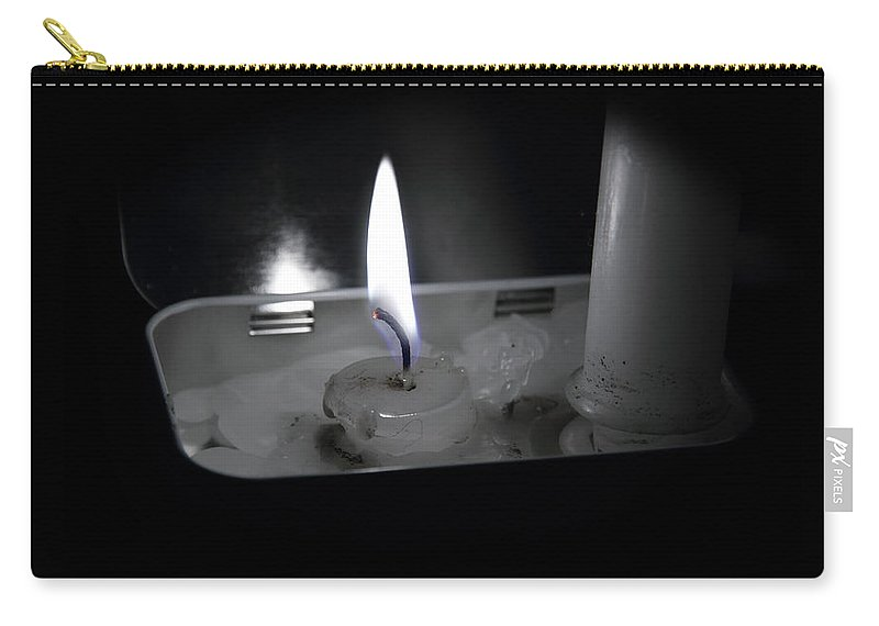 Acrylic Prints Carry-all Pouch featuring the photograph Candle Flame by John Herzog