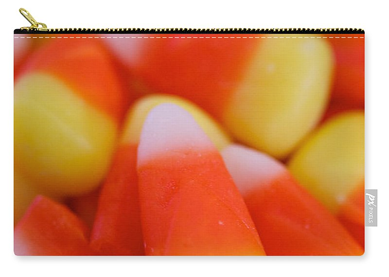 Candy Corn Carry-all Pouch featuring the photograph Candy Corn by Brooke Roby