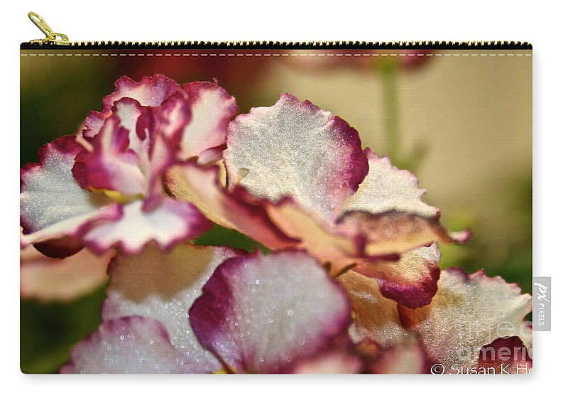 African Violet Carry-all Pouch featuring the photograph Candy Stripes by Susan Herber