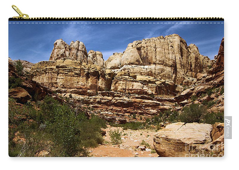Capitol Reef National Park Carry-all Pouch featuring the photograph Canyon Castle by Adam Jewell