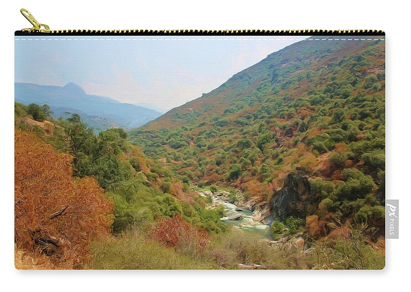Sequoia National Park Carry-all Pouch featuring the photograph Canyon Stream by Heidi Smith
