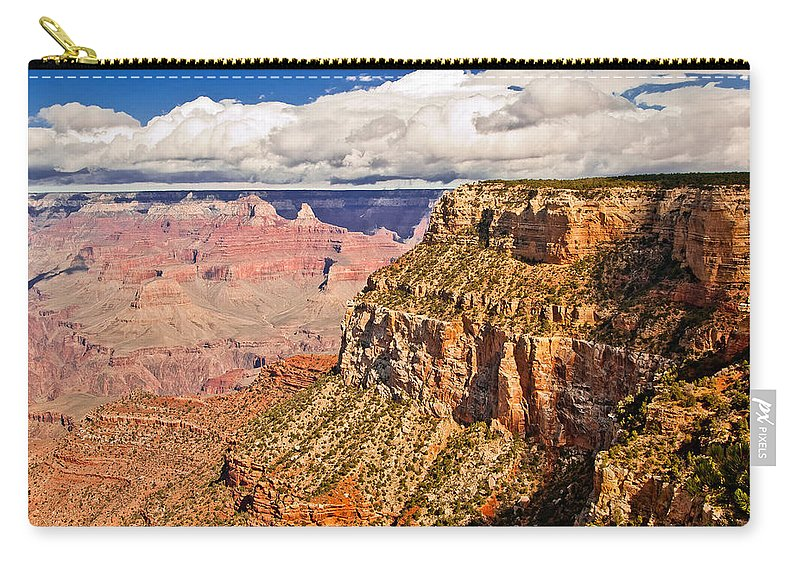 Grand Canyon Carry-all Pouch featuring the photograph Canyon View Iv by Jon Berghoff