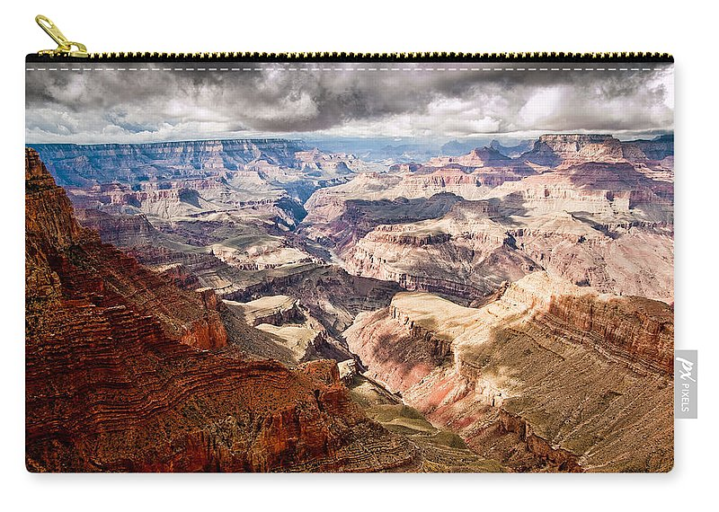 Grand Canyon Carry-all Pouch featuring the photograph Canyon View Vii by Jon Berghoff