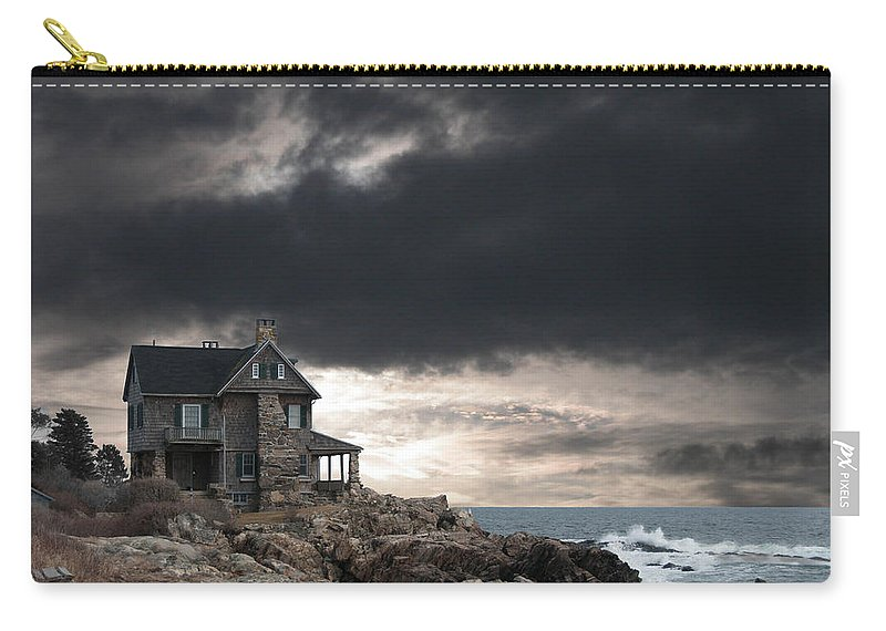 Clouds Carry-all Pouch featuring the photograph Cape Arundel Revisited by Guy Whiteley