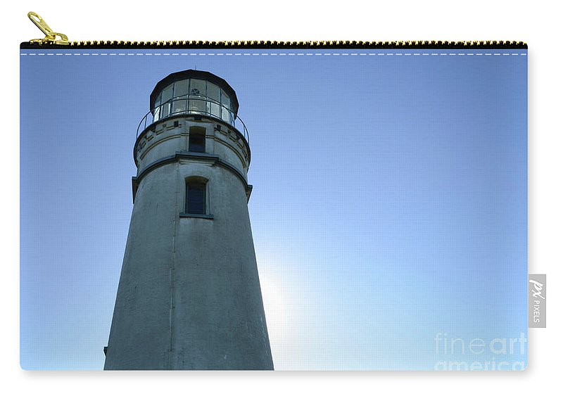 Pacific Ocean Carry-all Pouch featuring the photograph Cape Blanco Light 2 by Bob Christopher