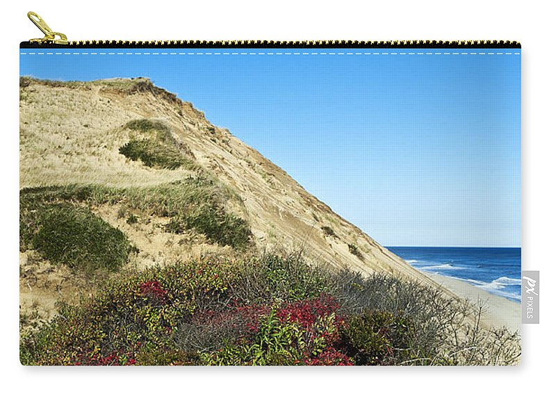 Beach Carry-all Pouch featuring the photograph Cape Cod Dune Cliff by John Greim