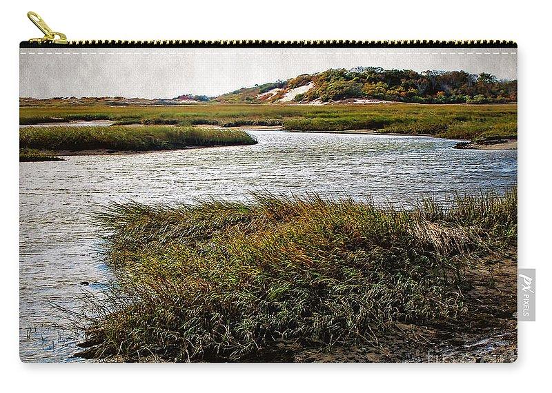 Cape Cod National Seashore Carry-all Pouch featuring the photograph Cape Cod National Seashore by Joan Minchak