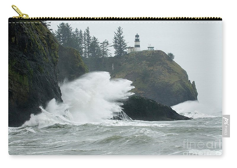 Pacific Ocean Carry-all Pouch featuring the photograph Cape Disappointment Lighthouse by Bob Christopher