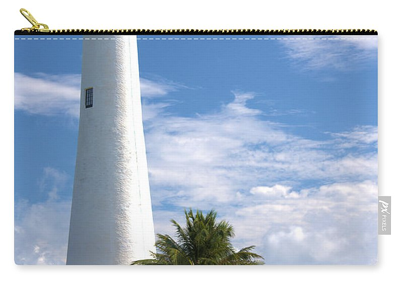 Beacon Carry-all Pouch featuring the photograph Cape Florida Lighthouse by Rudy Umans