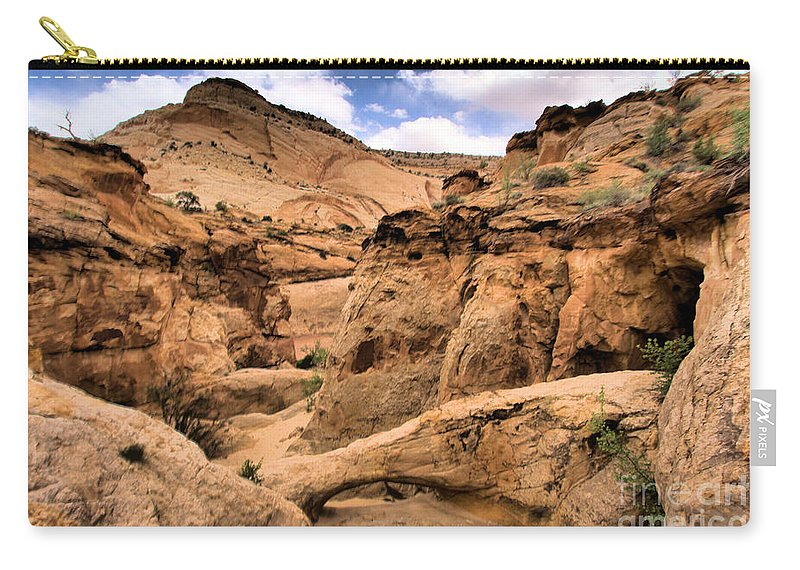Capitol Reef National Park Carry-all Pouch featuring the photograph Capitol Bridge by Adam Jewell