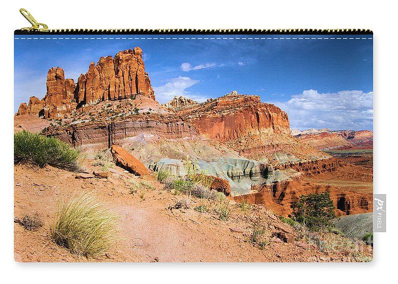 Capitol Reef National Park Carry-all Pouch featuring the photograph Capitol Castle by Adam Jewell
