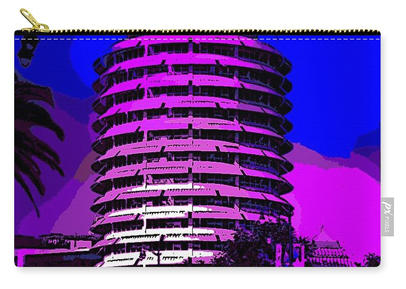 Abstract Carry-all Pouch featuring the photograph Capitol Records Building by George Pedro