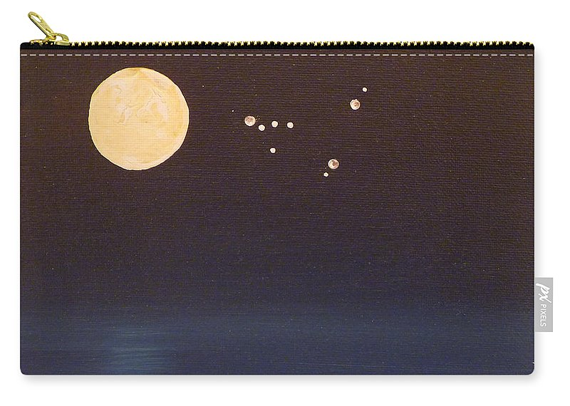 Capricorn Carry-all Pouch featuring the painting Capricorn by Alys Caviness-Gober