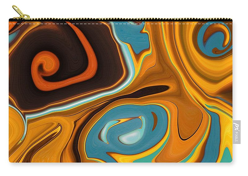 Caramel Carry-all Pouch featuring the painting Caramel Dreams by Renate Nadi Wesley