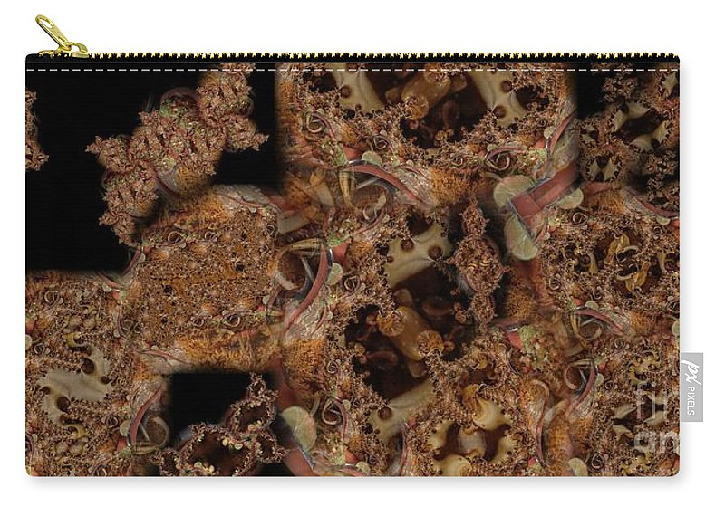 Montage Carry-all Pouch featuring the digital art Carne Asada Uno by Ron Bissett