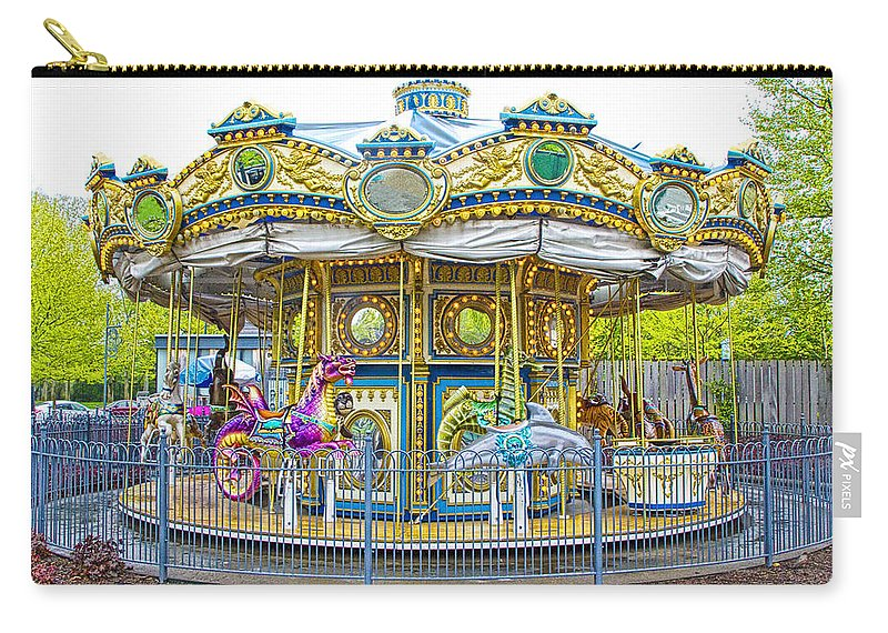 Art Carry-all Pouch featuring the photograph Carousel Ride In Pittsburgh Pennsylvania by Randall Nyhof