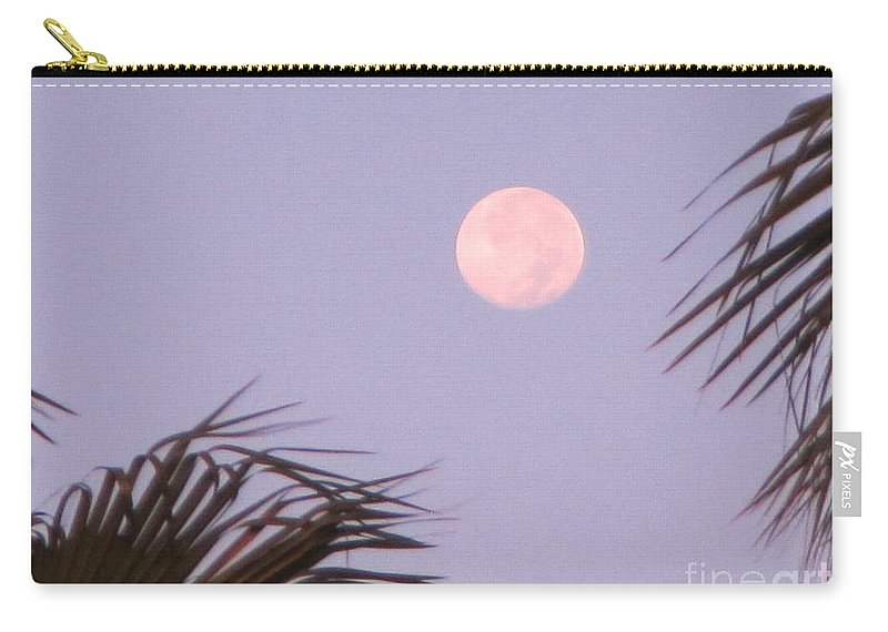 Moon Carry-all Pouch featuring the photograph Carribean Full Moon by John Malone