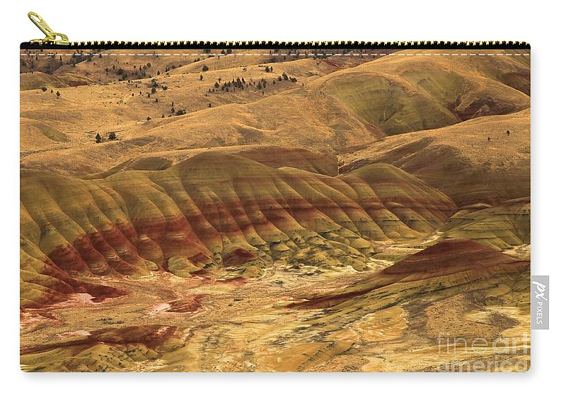 John Day Fossil Beds Carry-all Pouch featuring the photograph Carroll Rim Painted Hills by Adam Jewell
