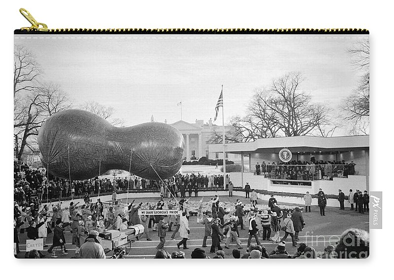 1977 Carry-all Pouch featuring the photograph Carter Inauguration, 1977 by Granger