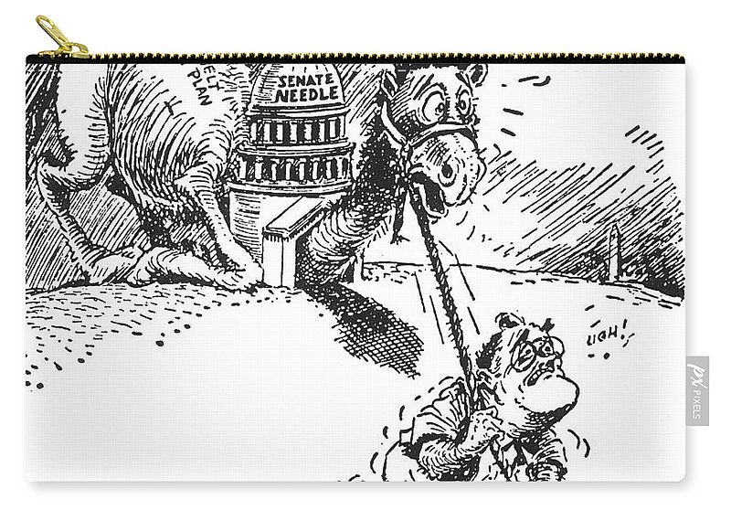 1937 Carry-all Pouch featuring the photograph Cartoon: New Deal, 1937 by Granger