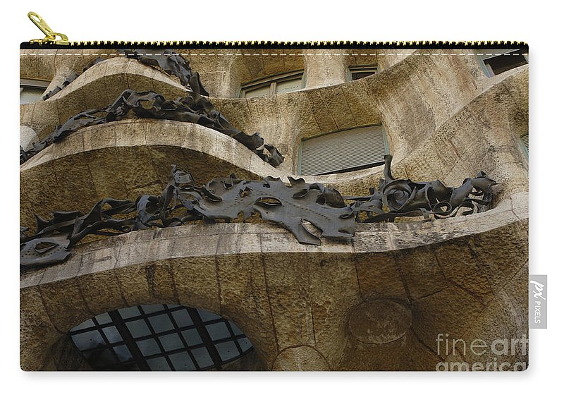 Casa Mila Carry-all Pouch featuring the photograph Casa Mila Spain by Bob Christopher