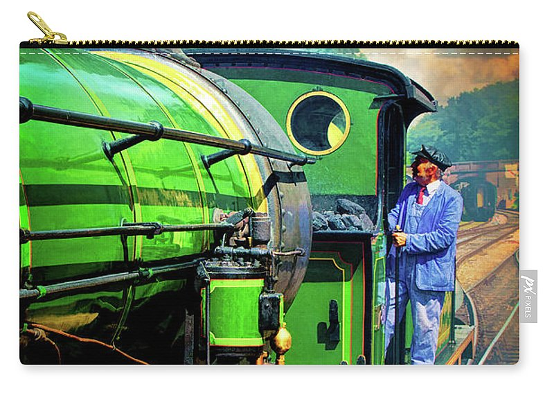 Locomotive Carry-all Pouch featuring the photograph Casey Jones by Chris Lord