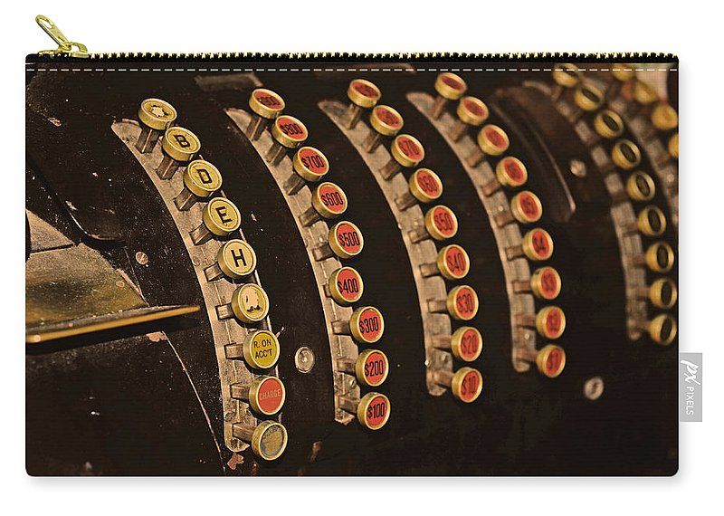 Money Carry-all Pouch featuring the photograph Cash Machine by La Dolce Vita