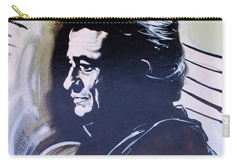 Johnny Cash Carry-all Pouch featuring the photograph Cash by Rob Hans