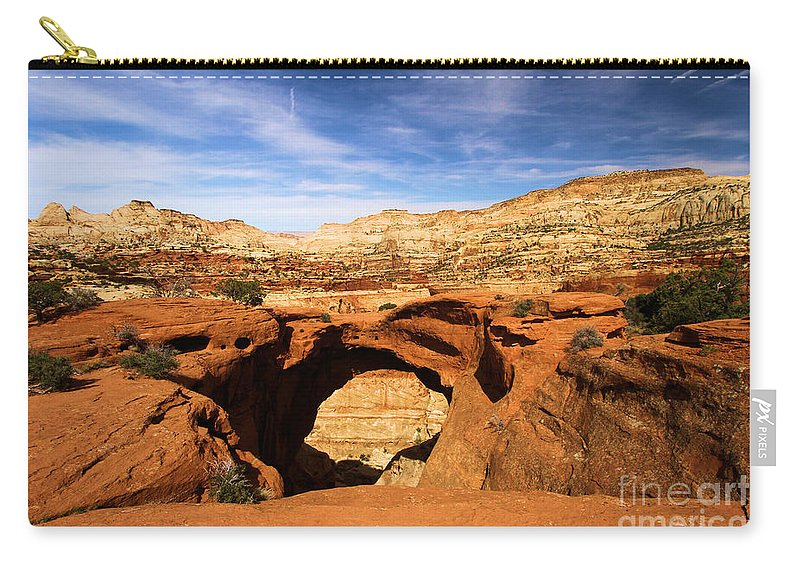 Cassidy Arch Carry-all Pouch featuring the photograph Cassidy Arch by Adam Jewell