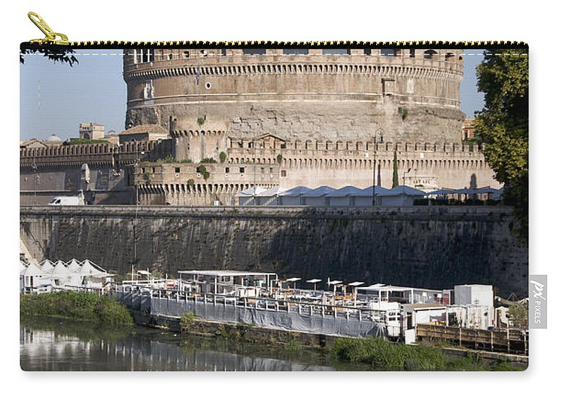 Tiber Carry-all Pouch featuring the photograph Castel Sant'angelo Castle. Rome by Bernard Jaubert