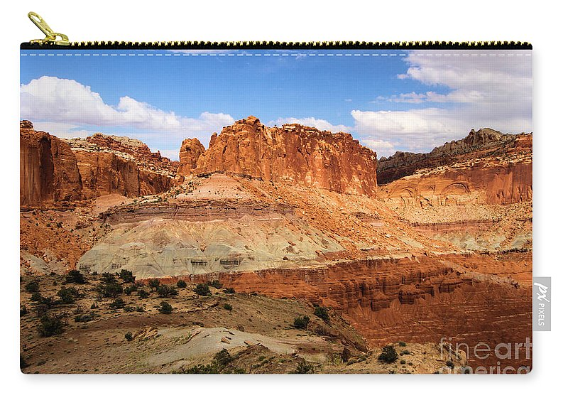 Castle Carry-all Pouch featuring the photograph Castle In The Distance by Adam Jewell